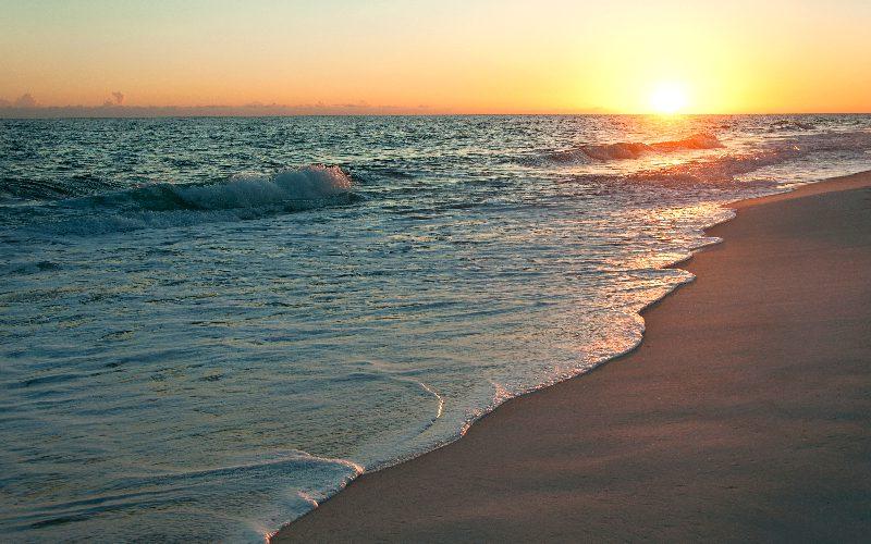 sunset on destin beach