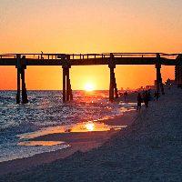 okaloosa island pier at sunset