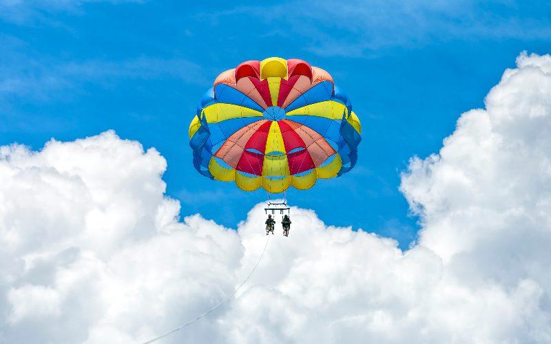 two people parasailing destin florida
